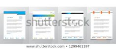 Find Letterhead Template Set stock images in HD and millions of other royalty-free stock photos, illustrations and vectors in the Shutterstock collection. Letterhead Format, Letterhead Template, Business Letter, Land Scape, Royalty Free Photos, Flyers, Creative, Stationary, Bar Chart