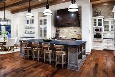 beach house backsplash   Elegant Traditional Kitchen Luxury Home in Texas: When Rustic Meets ...