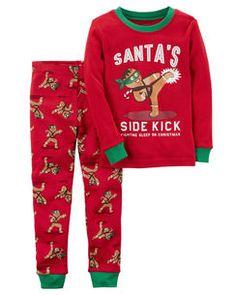 ab0996f7f1 2-Piece Gingerbread Snug Fit Cotton PJs Cotton Pyjamas