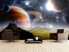 Deep Space Concept wall mural room setting
