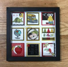Back to School Framed Art Sampler www.stinkincutecards.com