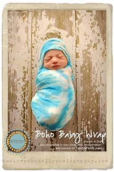 Boho Baby Wrap Photo Prop Infant Blanket Swaddler by TrickyKnits