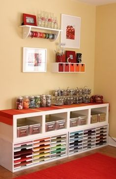 storage for craft goodies! This is awesome, it would be great to have all my stuff organized like this!