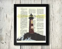 Lighthouse #1 watercolor & ink upcycled art print on a 8x10 dictionary page.  This listing is for the PRINT ONLY; frame not included. © Angie Canavan Designs. All rights reserved. Copyright does not transfer with sale.   Orders will be dispatched within 3 working days of payment being received and sent via USPS. Orders sent via USPS will normally take between 1-3 days to be delivered but please allow up to 7 days for your order to arrive.  International orders will be dispatched within 3…