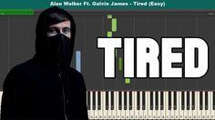 Tired Easy Piano Tutorial - Free Sheet Music (Alan Walker Ft. Galvin James)