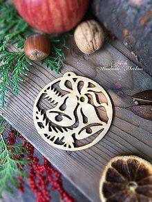 Dekorácie - Zvonček vianočný výrez (A4) - 7130305_
