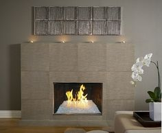 "Fire On Glass - 24"" Complete Fireglass Fireplace Kit for Fireplaces between 30"""