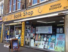 Bookshopping before football. Newham Bookshop, London