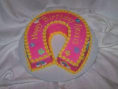 44 Best Horseshoe Cakes Images Western Cakes Birthday