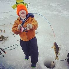Ice fishing = pure happiness!
