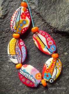 °° Jasmin French °° Joy Hues Lampwork Beads Set SRA | eBay