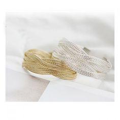 Corean Fashion Simple and Grace Style Knitting Pattern Bracelet, SILVER in Bracelets | DressLily.com