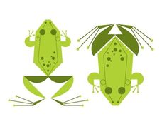Charley Harper. Reminds me of spring on the acreage, falling asleep to frogs.