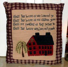 Saltbox house pillow