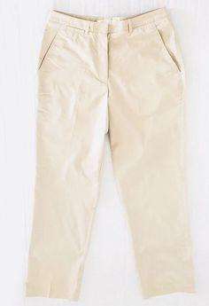 8b1771521d Nike Golf Dri-Fit Pants Womens Size 10 x 31 Beige Stretch Straight Leg N7  NEW