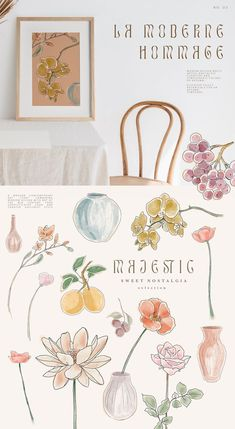 Infused with lively colors and autumnal palettes, the lush gardens bring 4 different floral styles and a fresh new look to your Autumn wedding stationery, colorful packaging design, website and branding, botanical logo design and modern printable wall art and poster designs.