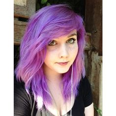 Purple hair Dyed Hair Pastel Hair ❤ liked on Polyvore featuring hair