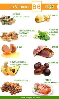 La vitamina le sue proprietà ed i cibi che la contengono - Vivilight Nutrition And Dietetics, Health And Nutrition, Vitamin B6 Foods, Raw Food Recipes, Healthy Recipes, Healthy Lifestyle Tips, Wellness Fitness, Food Hacks, Natural Health
