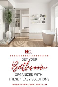 If you are tired of navigating the cluttered vanities and messy floors of your home's bathroom, there are a few simple steps you can take to reign in the chaos without spending a fortune.