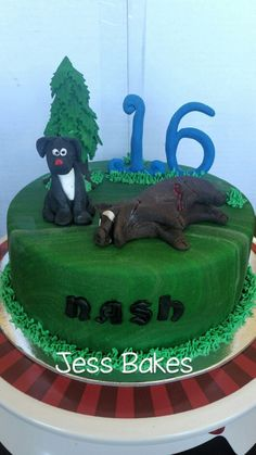Pig hunting cake by Jess Bakes
