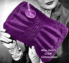 Vintage 1940s Stylish Clutch Handbag 233 PDF by MissJuliasPatterns, $2.00