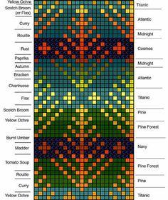 Use as a crochet pattern, maybe rainbow yarn with greys Fair Isle Knitting Patterns, Bead Loom Patterns, Knitting Charts, Knitting Designs, Knitting Stitches, Knit Patterns, Sock Knitting, Knitting Tutorials, Knitting Machine