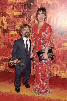 Peter Dinklage and Erica Schmidt attend HBO's Official 2015 Emmy After Party at The Plaza at the Pacific Design Center on September 20, 2015 in Los Angeles, California.