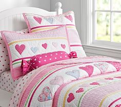Heart Quilted Bedding | Pottery Barn Kids