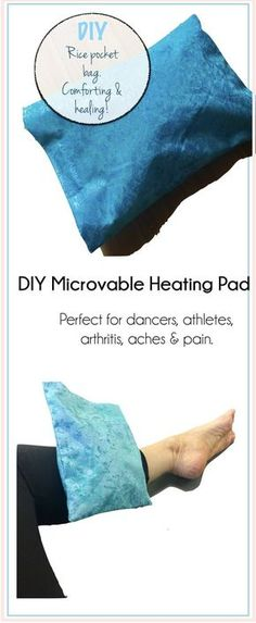 Click on pic to learn how to make an easy DIY microwaveable rice pack/pad to soothe your aching muscles! Perfect gift for athletes, dancers and anyone with arthritis. via @The Accidental Artist