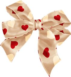 BOW WITH HEARTS CLIP ART