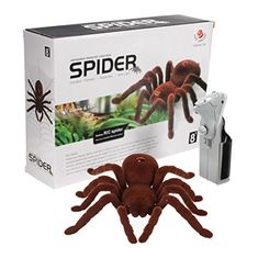Tairacy Remote Control Spider Soft Plush Scary Creepy Infrared RC Tarantula Toy for Kids Gift -- Read more reviews of the product by visiting the link on the image.Note:It is affiliate link to Amazon.