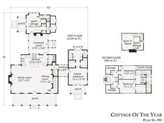 Plan SL 593, Cottage Of The Year, 2612 Sf Finished, 105 Unfinished