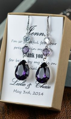 Purple Bridesmaid jewelry purple lavender pink by thefabbridal3, $39.99 Would be awesome if they had a matching necklace