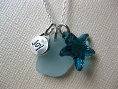 Joy is a day at the Beach Seaglass necklace and SS by SAMISEAGLASS, $27.00