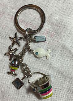 COACH Legacy Beach Ocean Key Chain Fob - NEW - RARE~