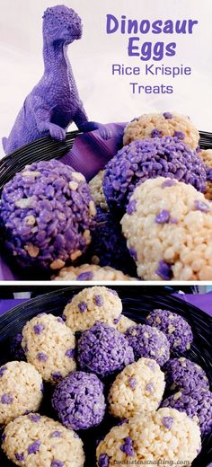 These Dinosaur Eggs Rice Krispie Treats were the hit of our Dinosaur Party. They are a super easy to make, colorful and festive Dinosaur Party Dessert that everyone w Dessert Party, Snacks Für Party, Party Desserts, Lemon Desserts, Rice Krispies, Rice Krispie Treats, Dinosaur Birthday Party, 4th Birthday Parties, Dinosaur Train Party