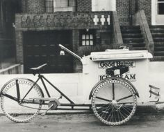 Cargo bikes have always been cool, especially when they are filled with Ice Cream!  Vintage Worksman Cycles photographs on http://blog.nashbar.com/bike-nashbar/worksman-cycles