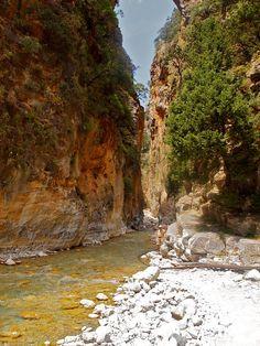 Samaria gorge in Chania, Crete, Greece