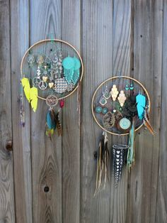 Use a dream catcher to hang jewelry.
