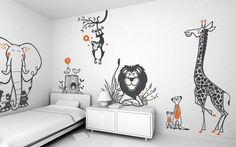 Kids Room Decoration from e-glue Wall-sticker-for-kids-bedroom-wall-decorating. Childrens Bedroom Wallpaper, Kids Bedroom, Bedroom Decor, Kids Rooms, Master Bedroom, Modern Bedroom, Budget Bedroom, Boy Rooms, Minimalist Bedroom