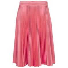 TOPSHOP Pink Sunray Pleat Skirt ($45) ❤ liked on Polyvore featuring skirts, bottoms, pink, topshop skirts, topshop, pink knee length skirt, red pleated skirt and pink skirt