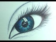 Como Desenhar um Olho Realista Com Lápis de Cor | How to Draw Realistic eye - YouTube