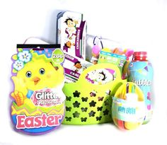 Easter Basket, Bubbles, Confetti Eggs, Decor Stickers and Kit Activity Bundle  #Unbranded