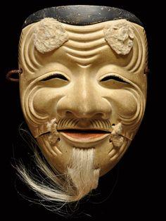翁 Noh Mask
