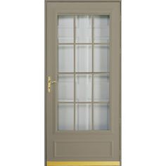Pella Cheyenne Putty Mid-View Safety Retractable Screen Storm Door (Common: 36-in x 81-in; Actual: 35.75-in x 79.875-in)