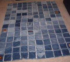 the photo shows the other pretty side (the raggedy side) of the same quilt. Debbie from Kansas made this beautiful quilt.
