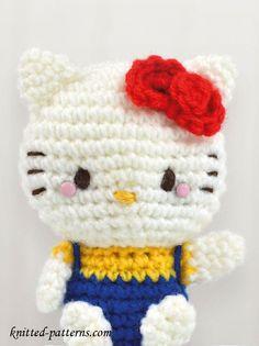 Mesmerizing Crochet an Amigurumi Rabbit Ideas. Lovely Crochet an Amigurumi Rabbit Ideas. Crochet Gratis, Crochet Amigurumi Free Patterns, Cute Crochet, Crochet Dolls, Crochet Baby, Knitting Patterns, Double Crochet, Crochet Stitches, Hello Kitty Amigurumi