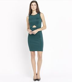 Cutout Bodycon Dress With Chain