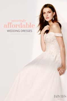 Whether you want to look classic or modern, glamorous or elegant, we've got gorgeous wedding dresses for you at an amazing price. Discover a variety of gowns in various trends and styles. From lacey looks, back detail, vintage-inspired and sweetheart necklaces, discover new wedding dresses under $600 only at David's Bridal today.
