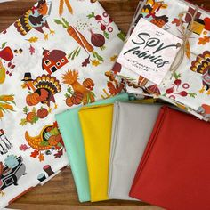🦃 Gobbling the Feast 5 Piece Fat Quarter Bundle is available in the shop! The print is by Alexander Henry and the 4 solids are Moda Fabrics Bella Solids in Grey, Sumac, Saffron, and Green. Alexander Henry Fabrics, Fat Quarters, Cotton Fabric, Quilts, Shop, Etsy, Green, Instagram, Cotton Textile